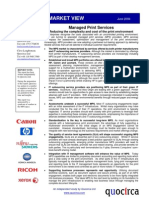 Managed print services - reducing the cost and complexity