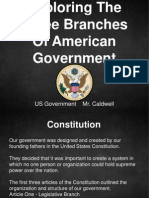 branches of gov t