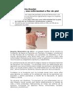 Día Mundial de la Psoriasis - 29 octubre 2013.