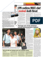 thesun 2009-08-06 page04 cpo confirms macc chief received death threat