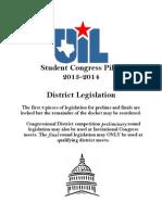 2013-14 Congress Legislation UIL