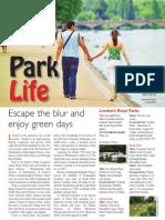The Travel & Leisure Magazine London Parks Feature.