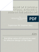 What Value of e Should Structural Engineers Used