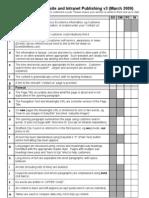 Website Standards Checklist