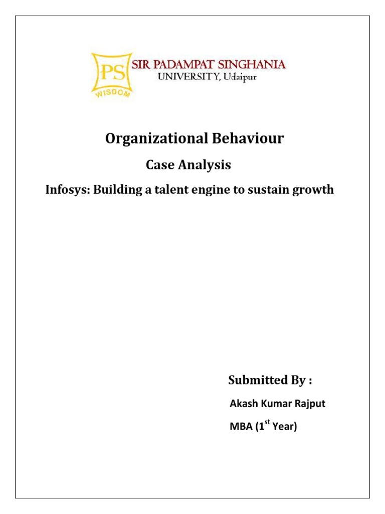 organisational behavior at infosys