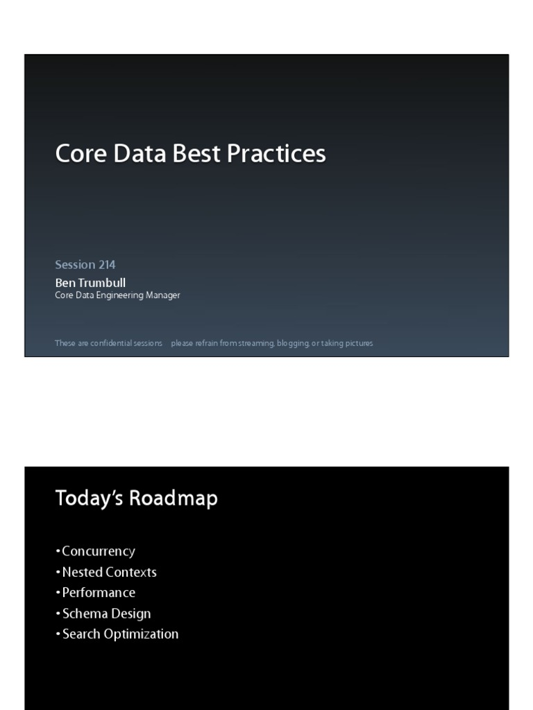 Session 214 Core Data Best Practices   Thread (Computing