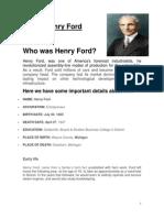 Henry Ford material para disertación.