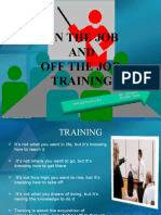 JOB TRAINING METHOD