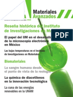 Revista Materiales Avanzados No. 20