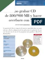 Como Grabar CD de 800 y 900 Mb Con Nero