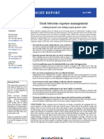 Total telecoms expense management - looking beyond cost cutting to gain greater value