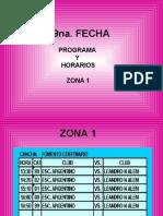 9na. FECHA - PROGRAMA Y HORARIOS