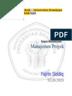 Manajemen Proyek - Jaringan Kerja