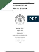Metode Numerik - Nilai Awal