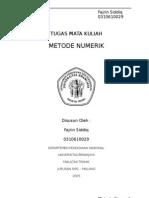 Metode Numerik - Interpolasi Kubik
