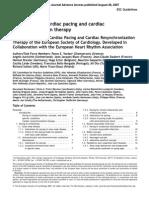 Guidelines Cardiac Pacing 2007