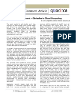 Obstacles to Cloud Computing
