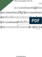 8810 - Nao Ha Deus Tao Grande Como Tu - Partitura - Sopro - Sax Alto