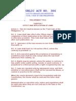 Civil Code Preliminary Title