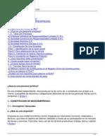 Constitucion de Microempresas