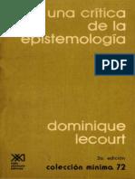 Lecourt, Dominique - Para Una Critica de La Epistemologia