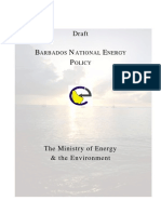 Barbados, National Energy Policy,  Draft December 2006