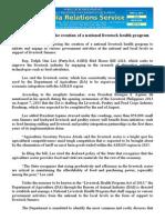 nov06.2013.docLawmaker calls for the creation of a national livestock health program