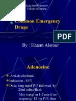 Common Emergency Drugs