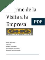 Informe de La Visita a La Empresa