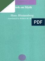 Work on Myth Blumenberg Hans