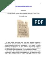 Apócrifos - Carta de Lentulus Publius de Jerusalém ao Imperador Tíbérío César.doc