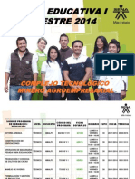 Oferta Educativa i Trimestre 2014