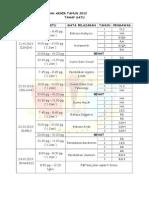 Jadual Ujian 1 Thp 1 2013.doc