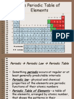 the periodic table notes