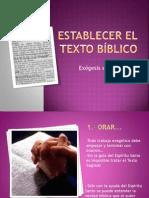 5.- Establecer el Texto Bíblico