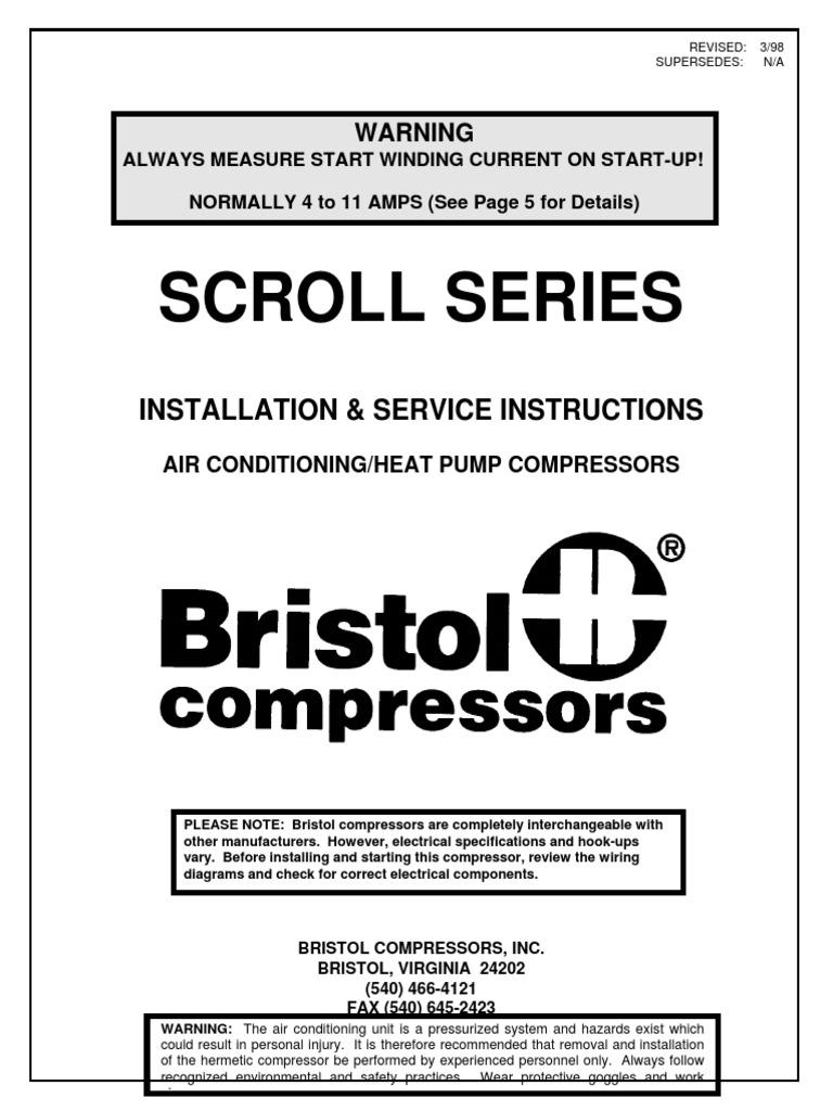 Bristol Scroll | Air Conditioning | Gas Compressor
