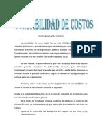 Contabilidad de Costos Resumen