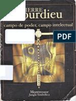 Campo Intelectual y Proyecto Creador, Bourdieu