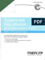 TOEFL ITP Student Manual