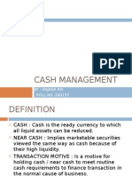 Cash Management at Atm