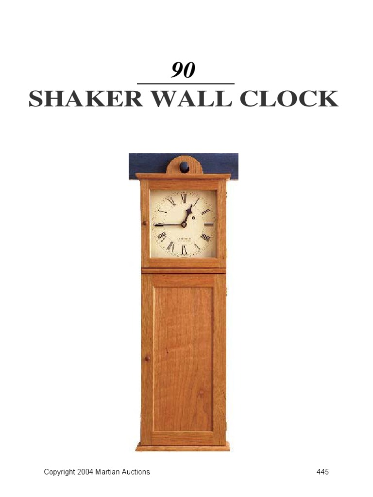 Shaker wall clockpdf door building materials amipublicfo Image collections