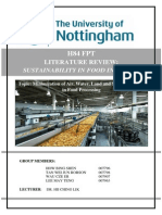 Literature Review on Minimization technique in F&B industry