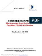 Qualified Child Care Worker July 06