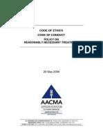 AACMA Code of Ethics - 2006 05 20