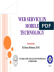 Web Service in Mobile Technology