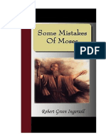 Robert Ingersoll - some mistakes of moses
