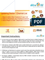 Abbworld - Step Wise Procedure to Update Customer List