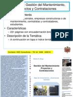 Gestión Mantenimiento, Proyecto y Contrataciones LIBRO HEE Consultores
