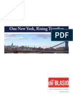 Bill De Blasio - One New York Rising Together
