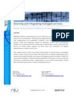 Sourcing and integrating managed services
